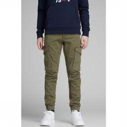 Jack & Jones Trousers JJ Paul Green mid khaki
