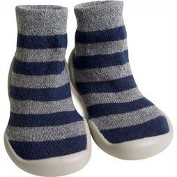 COLLE SOCK COLLE CHAUSSONS WOOL CASHMERE Dark Blue/Light Grey Mixture