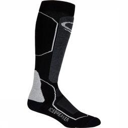 Icebreaker Ski Sock + Mid Otc Women black/light grey