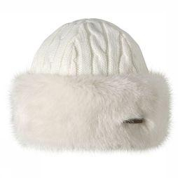 Barts Bonnet Fur Cable Bandhat white