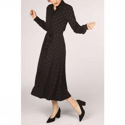 Soft Rebels Robe Dottie Ls Ankle Noir/Rouille