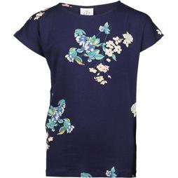 The New T-Shirt Kaisja Donkerblauw/Assortiment Bloem