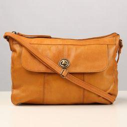 Pieces Tas Pc Imone Leather Crossbody Kameelbruin