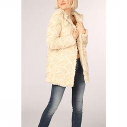 Vero Moda Jas Vmcurl High Neck Faux Fur Ns Ecru