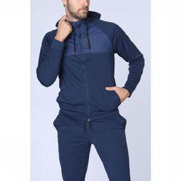 First Trui Cedrick Hood Zip Marineblauw