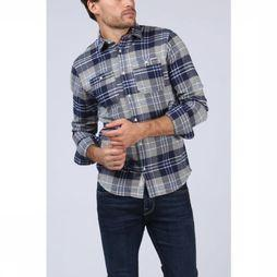 Premium Shirt Jprharry Light Grey Mixture/Dark Blue