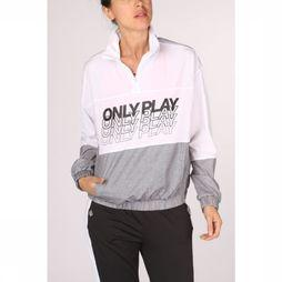 Only Play Manteau Sunset Highneck Anorak Blanc/Noir