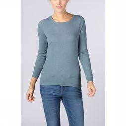 Vero Moda Basics Pull care Structure Ls O-Neck Noos Bleu Clair