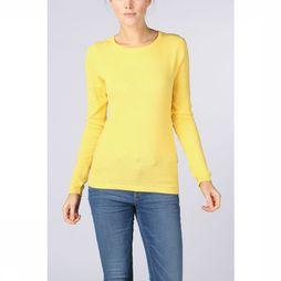 Vero Moda Basics Trui care Structure Ls O-Neck Middengeel