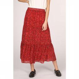 Only Jupe star Chiffon Skirt Wvn Rouge Moyen/Noir