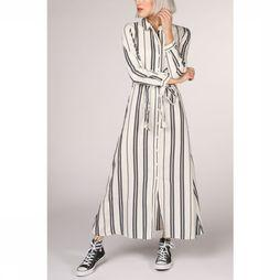 Only Jurk nadya 7/8 Sleeve Stripe Dnm Dress Gebroken Wit/Lichtblauw