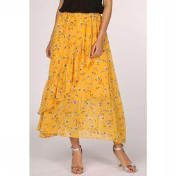 Only Jupe sheena Mid Skirt Wvn Jaune Moyen/Assortiment Fleur