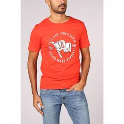 Jack & Jones T-Shirt orcustard mid red