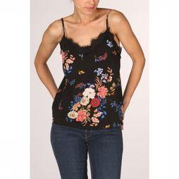 Only Blouse juliet  Singlet Top Wvn Zwart/Assortiment Bloem