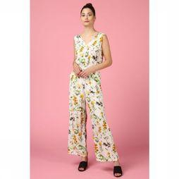 Object Jumpsuitfloressa S/L A Sp Gebroken Wit/Assortiment Bloem