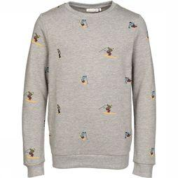 Name It Pull Ni Stewart Ls Sweat Gris Clair Mélange