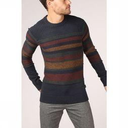 Jack & Jones Pull Jorlucky Knit Crew Neck Bleu Foncé/Assortiment