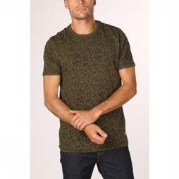 Premium T-Shirt kenton Middenkaki/Assortiment Bloem