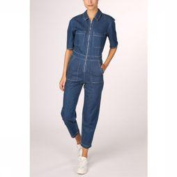 Only Jumpsuit pilma Ss Ank Contrast Dnm Jumpsuit Donkerblauw
