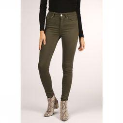 Only Trousers blush Mid Sk Bb Col dark khaki