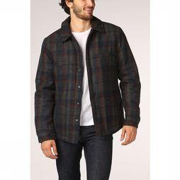 Only&Sons Jas dean Wool Check Donkerblauw/Middengrijs