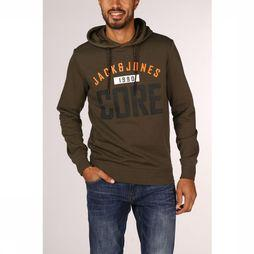 Jack & Jones Pull Jjcocarving Sweat Jj Print Kaki Foncé