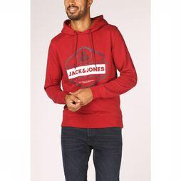 Jack & Jones Pull Jjcotwinsweat Hood Rouge Moyen
