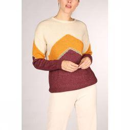 Vila Trui Vigood Knit L/S Color Blocking Gebroken Wit/Bordeaux