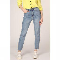 Only Jeans Onlemily Hw Straight Ankle Middenblauw