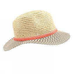 Pieces Hat Habiha Straw light brown/light pink