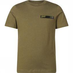 Jack & Jones T-Shirt Jcobrolin Tee Ss Crew Neck Jr dark khaki