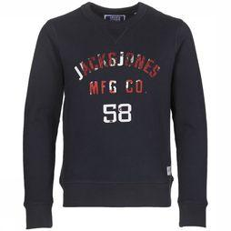 Jack & Jones T-Shirt Jjcowen Crew Neck Donkerblauw