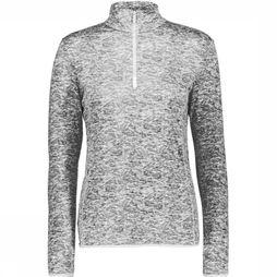 Fleece Wmn Sweat Printed Carbonium Stretch