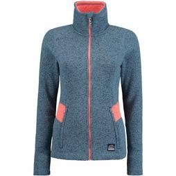 O'Neill Fleece Pw Piste Full Zip Middenblauw/Lichtroze