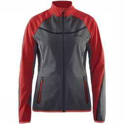 Craft Softshell Intensity Middengrijs/Rood