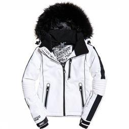 Superdry Manteau Ski Carve Jacket Blanc