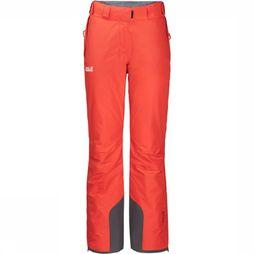Jack Wolfskin Skibroek Powder Mountain Long Oranje