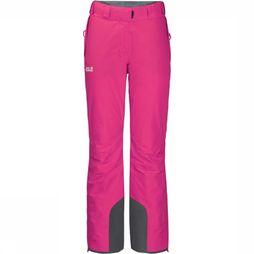 Jack Wolfskin Skibroek Powder Mountain Long Fuchsia