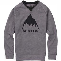 Burton Pullover Mb Bonded Crew Dark Grey Mixture