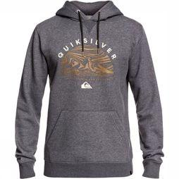 Quiksilver Pullover Big Logo Snow Light Grey Mixture