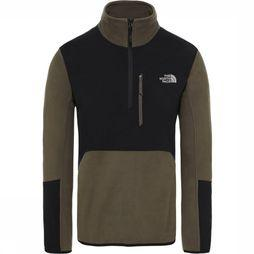 The North Face Polaire Glacier Pro 1/4 Zip Kaki Foncé