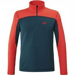 Millet Fleece Technostretch Po M blue/red