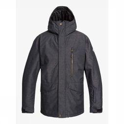 Quiksilver Coat Mission Dark Grey Mixture