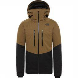 The North Face Coat Chakal dark khaki/black
