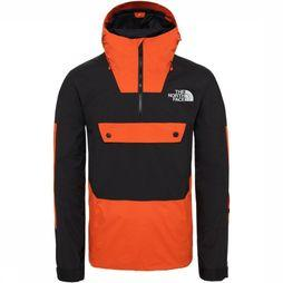 The North Face Jas Silvani Anorak Oranje/Zwart