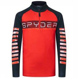 Spyder Fleece Boys Peak Rood