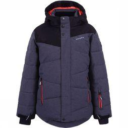 Icepeak Coat Helios Jr dark grey/black