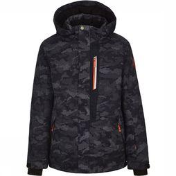Killtec Coat Zev Jr dark blue/Assortment Camouflage