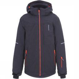 Icepeak Coat Leith Jr Dark Grey Mixture