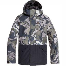 Quiksilver Coat Mission Block black/Assortment Camouflage